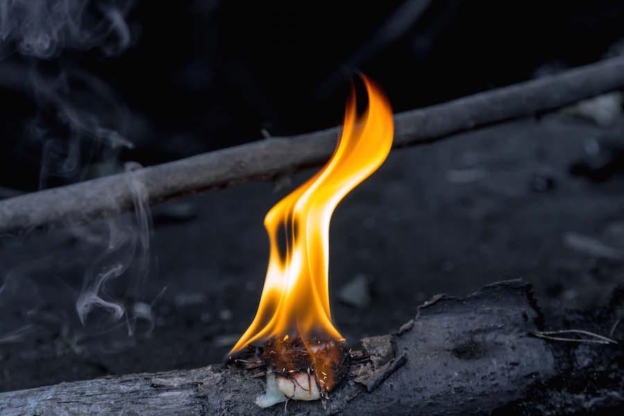 bees wax FireStarter Flames