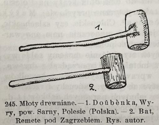 Młoty Drewniane Slavic wooden mallets