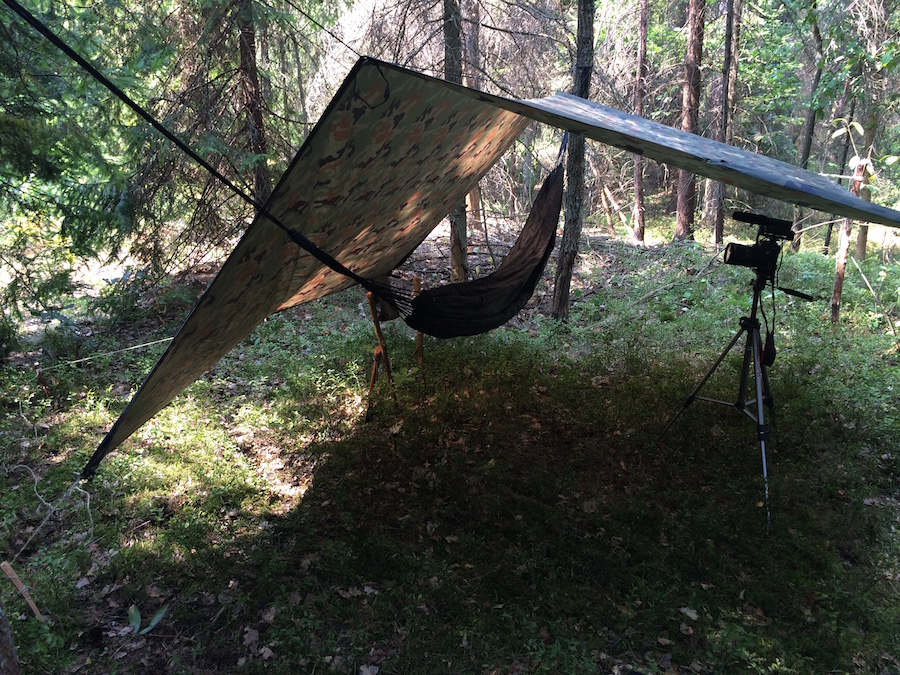 KollteX Tarp hammock and camera