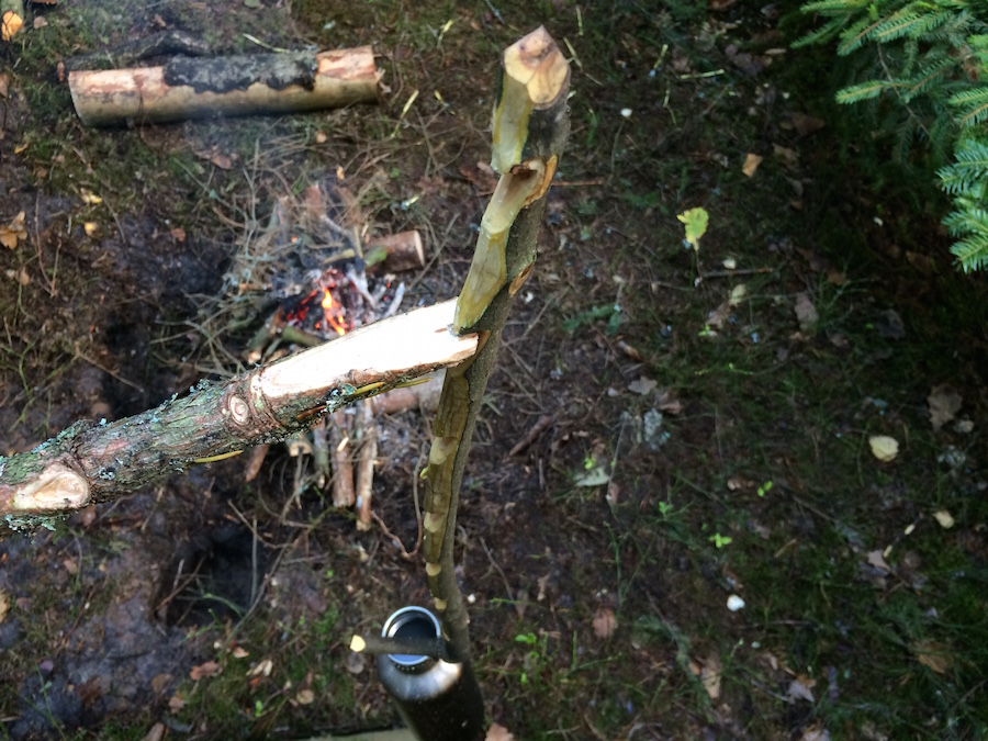 Bushcraft Cooking Notch Stick