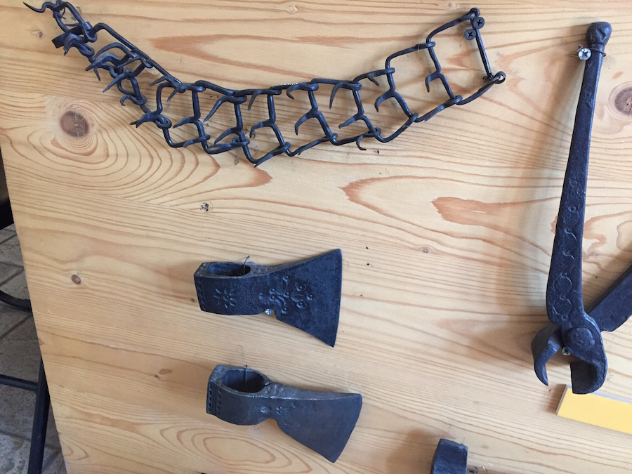 axe heads and anti_wolf dog collar