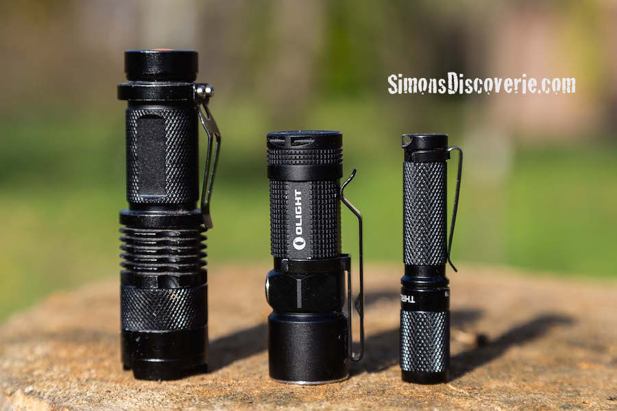 thrunite ti3 ultralight cree and olight s10 flashlight